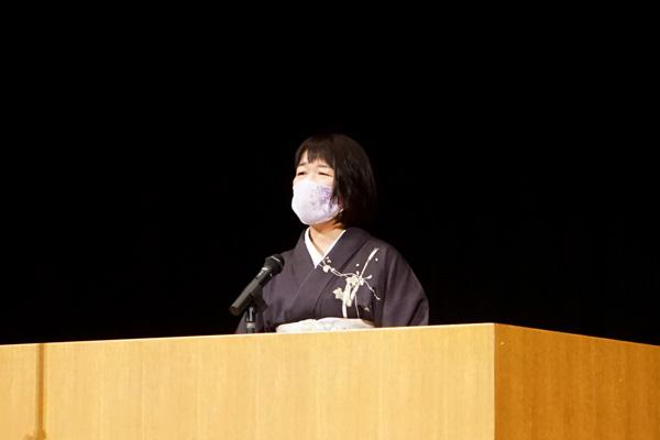 学位授与式野田学部長挨拶